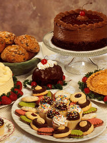 wedding catering dessert table