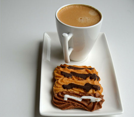 your snack with coffee